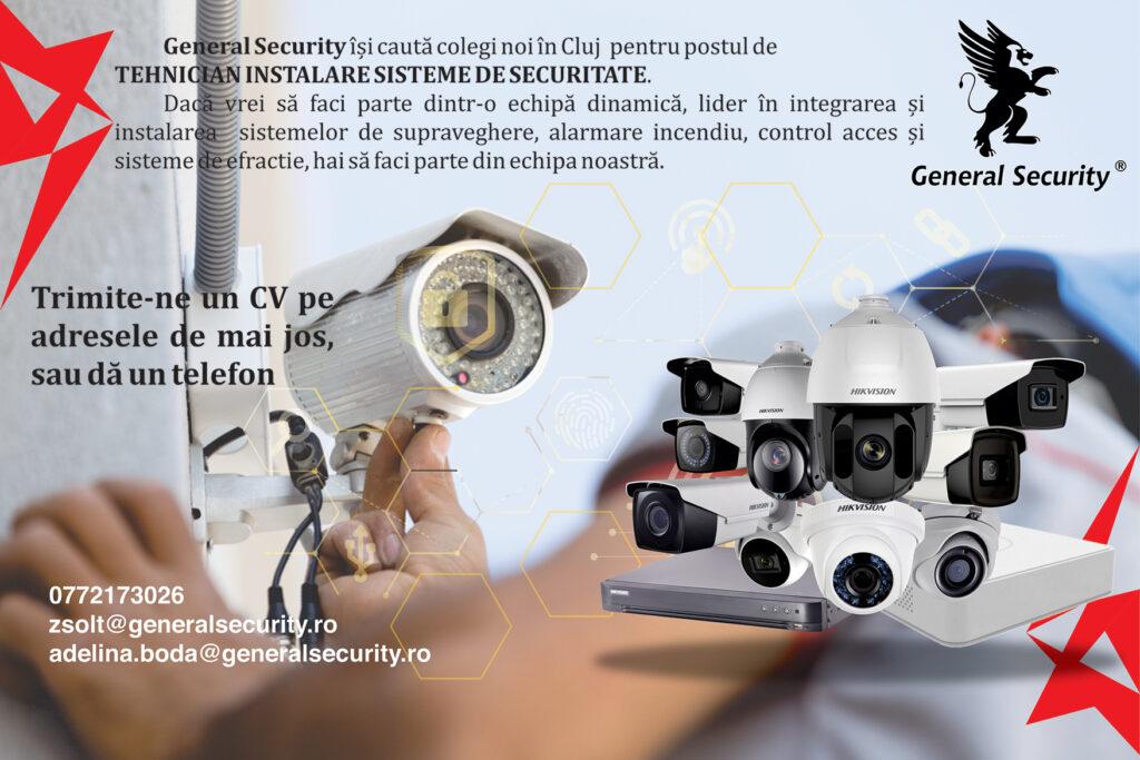 Tehnician Instalare Sisteme de Securitate - Cluj-Napoca